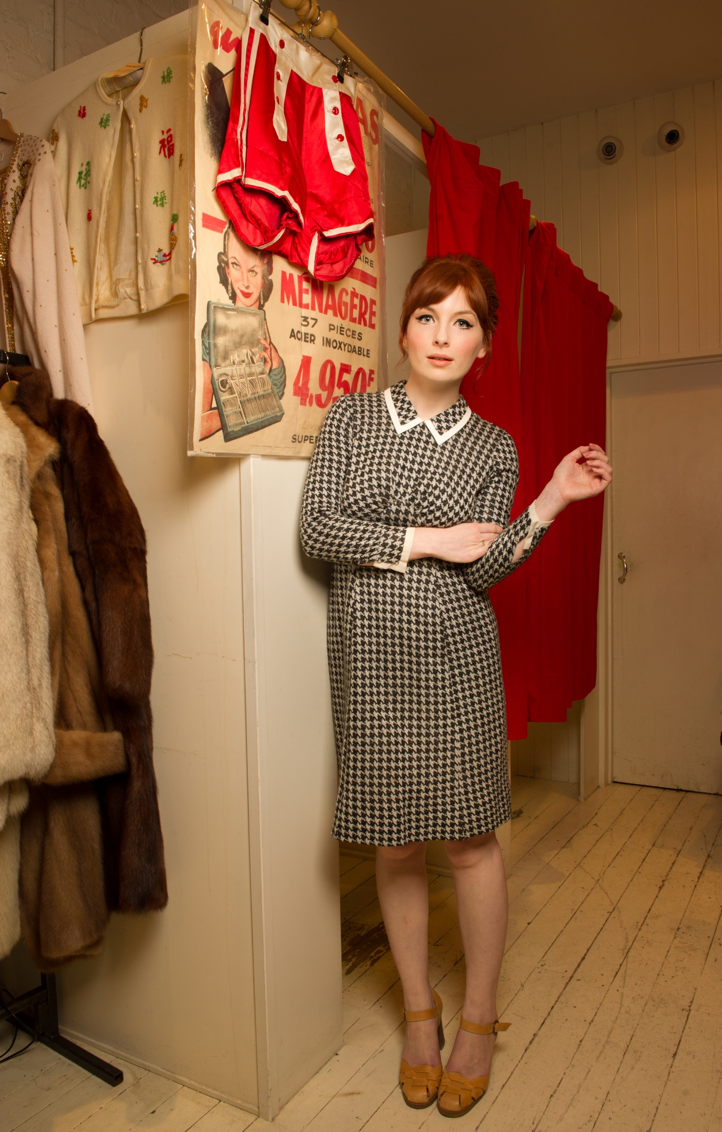 BBC Radio 1 and TV presenter Alice Levine, photographed as part of a weekly 'My Vintage Wardrobe' series shot for MyDaily.co.uk, focussing on women from different professions who share a love of vintage fashion.